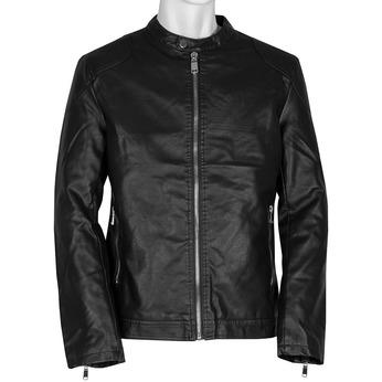 Ćierna pánska bunda so striebornými zipsami bata, čierna, 971-4221 - 13