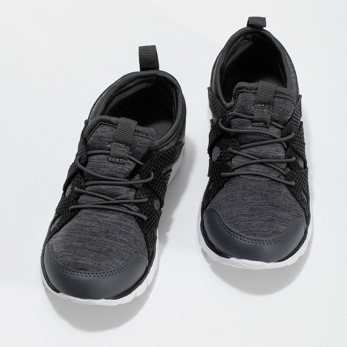 Šedé detské tenisky so žíhaním mini-b, šedá, 319-2396 - 16