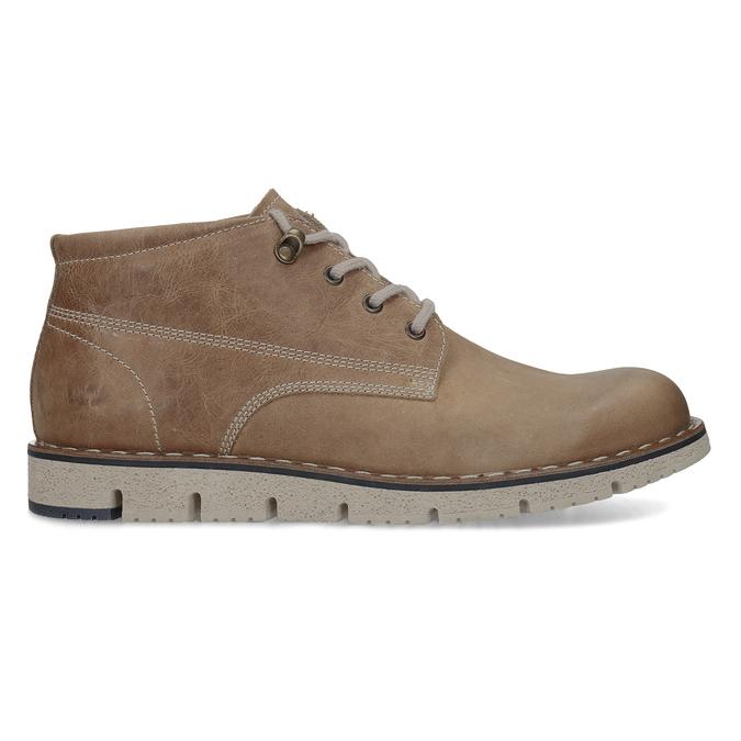 Hnedá pánska kožená členková obuv weinbrenner, hnedá, 846-4658 - 19