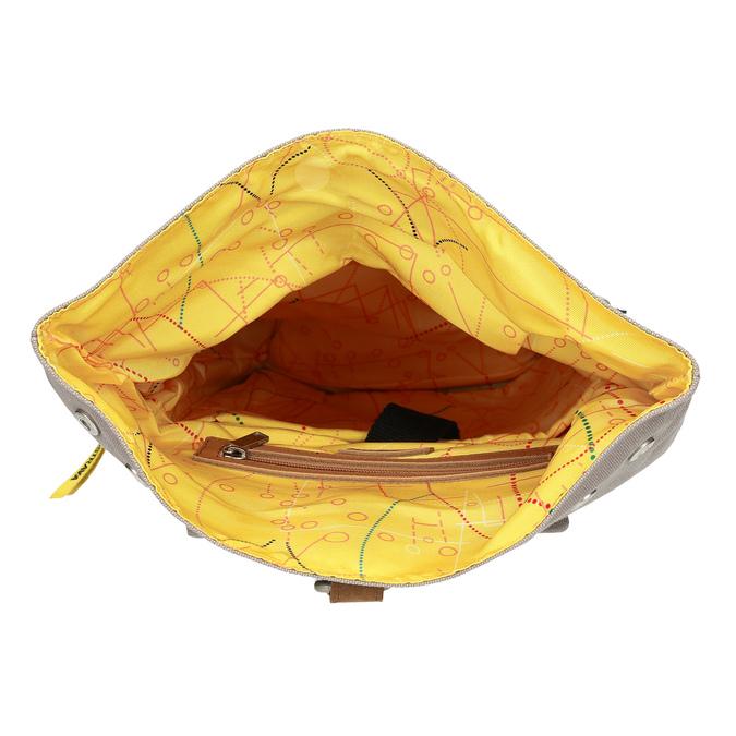 Oranžový unisex batoh so vzorom bata-colours-of-ostrava, oranžová, 969-5705 - 15