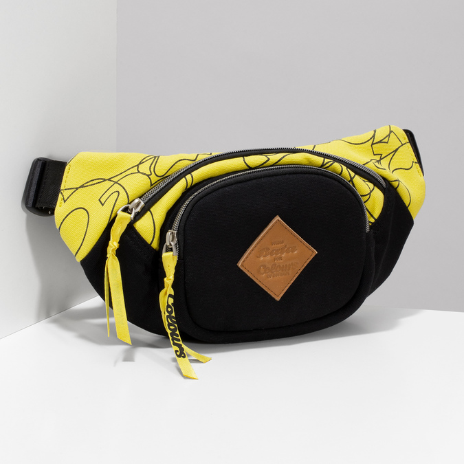 Žltá unisex ľadvinka so vzorom bata-colours-of-ostrava, žltá, 969-8706 - 17