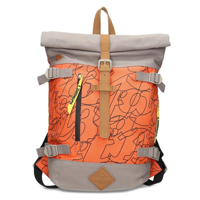 Oranžový unisex batoh so vzorom bata-colours-of-ostrava, oranžová, 969-5705 - 26