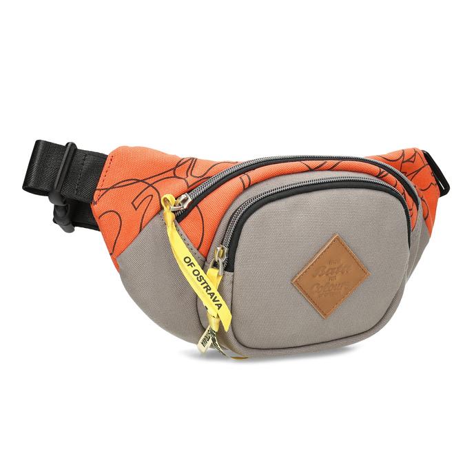 Šedá ľadvinka s oranžovým detailom bata-colours-of-ostrava, oranžová, 969-2706 - 13
