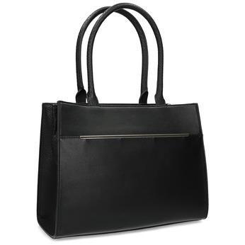 1ceda65f4 Čierna kabelka s kovovým detailom bata-red-label, čierna, 961-6972