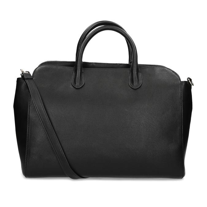 Čierna kabelka na notebook s prešívaním bata-red-label, čierna, 961-6950 - 16