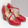 Červené kožené lodičky s asymetrickým remienkom insolia, červená, 724-5662 - 26