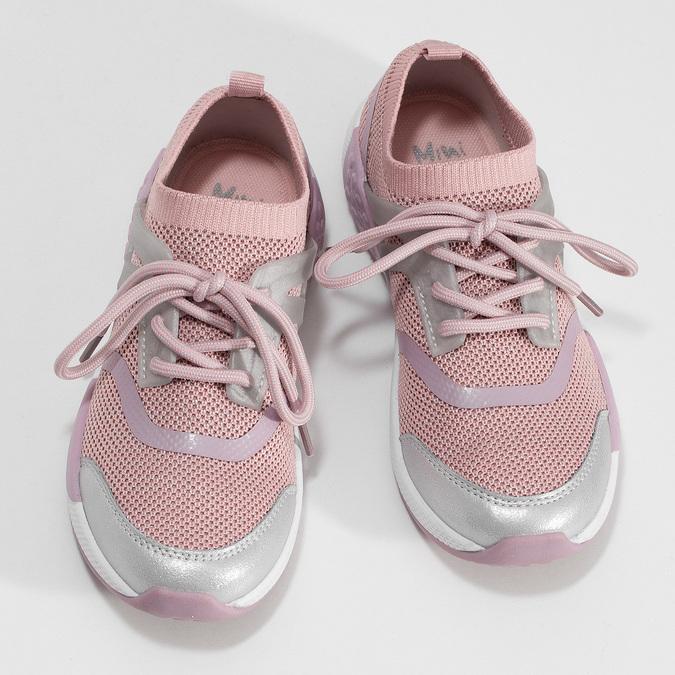 Ružové detské tenisky v pletenom dizajne mini-b, ružová, 329-5282 - 16