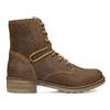 Hnedá detská kožená členková obuv bullboxer, hnedá, 323-3602 - 19