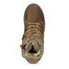Hnedá detská kožená členková obuv bullboxer, hnedá, 323-3602 - 17