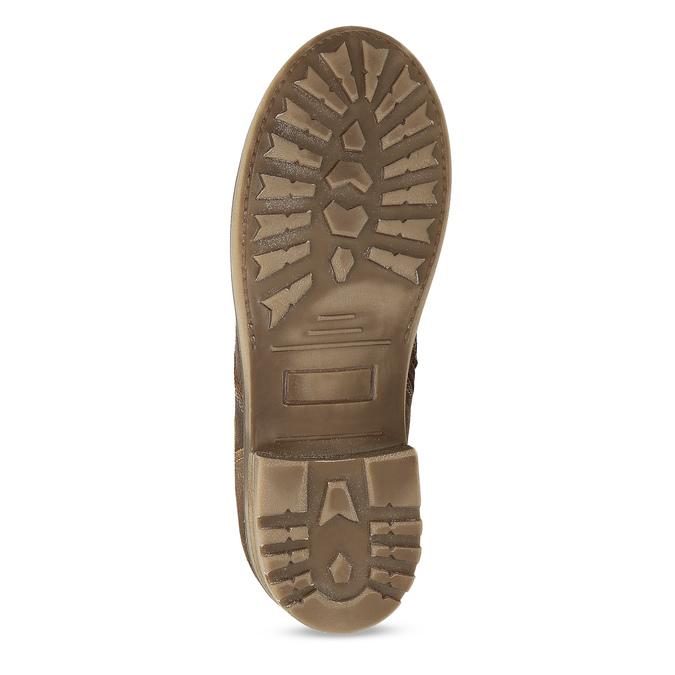 Hnedá detská kožená členková obuv bullboxer, hnedá, 323-3602 - 18