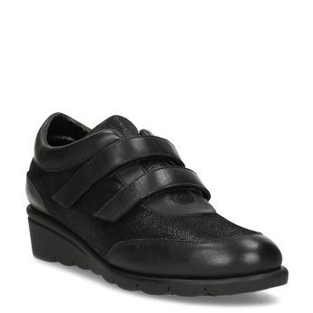 Kožené čierne dámske tenisky na kline comfit, čierna, 524-6607 - 13
