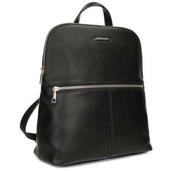 Čierny dámsky batoh so zipsom bata-red-label, čierna, 961-6941 - 13