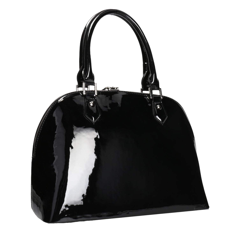 Baťa Čierna lakovaná kabelka - Kabelky  29732f67beb