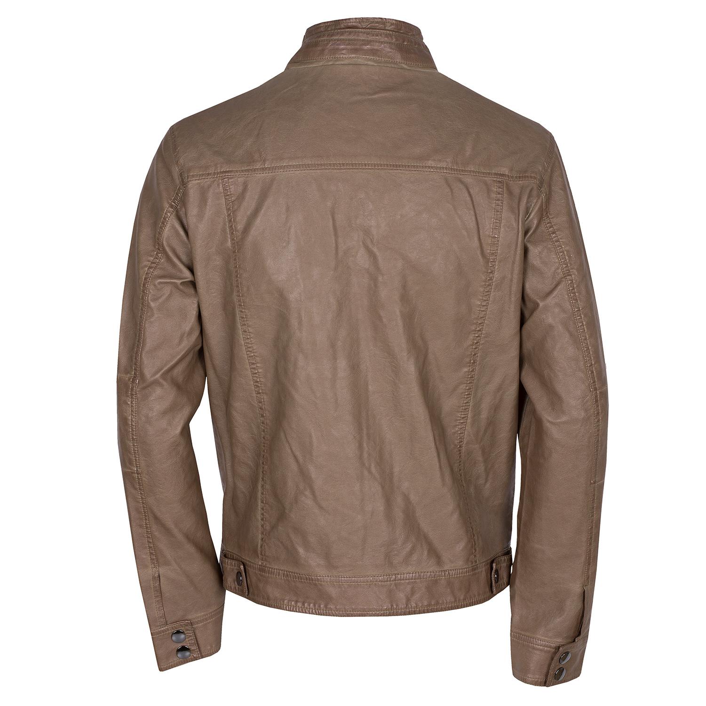 Baťa Hnedá pánska bunda z koženky - Pánske  5f7a3764163