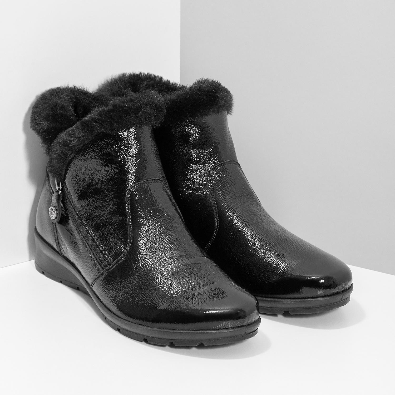 Comfit Dámska kožená členková obuv s kožušinkou - Ženy  d25265cefee