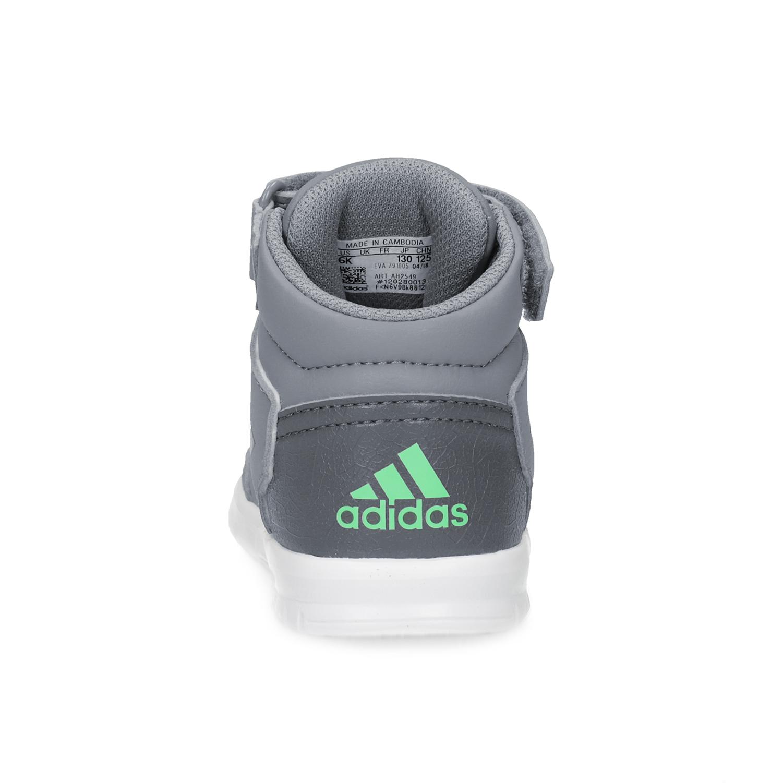 Adidas Šedé členkové detské tenisky na suchý zips - Tenisky  6abb8d19382